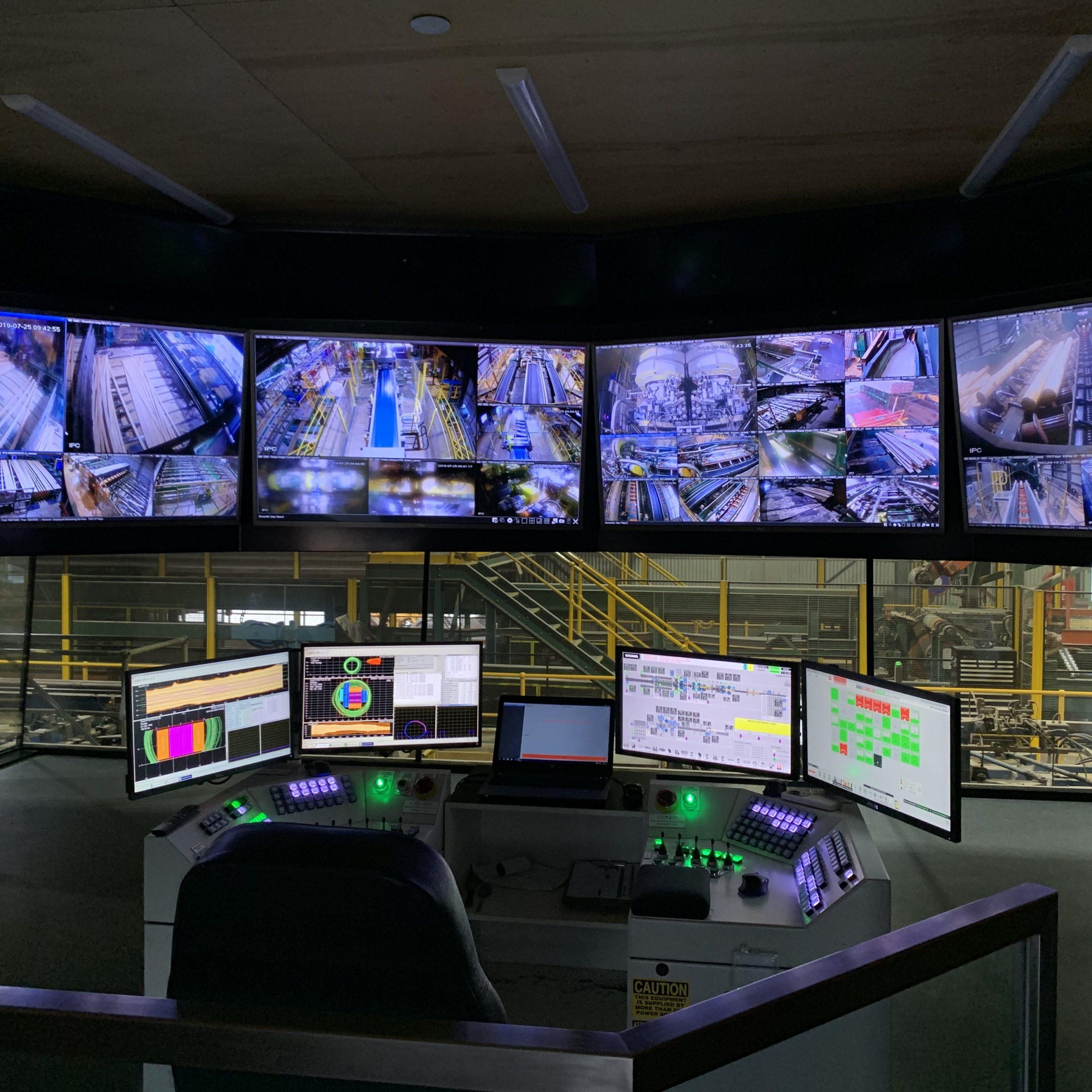 Australian Sawmill Control Room